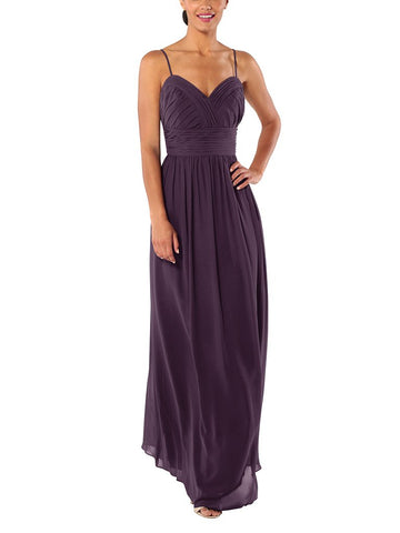 Brideside Betty Bridesmaid Dress in Eggplant - Front