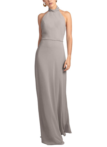 Jenny Yoo Brett Bridesmaid Dress in Opal Grey - Front