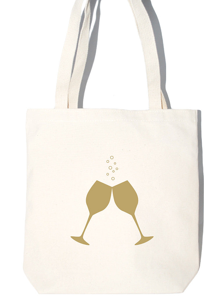 Gold Bubbly Large Tote