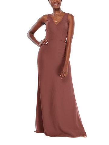 Aura Carina Bridesmaid Dress in Amber - Front