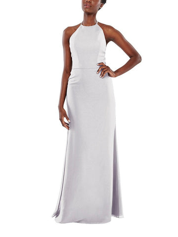 Aura Celeste Bridesmaid Dress in Frost - Front