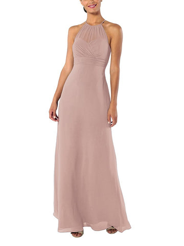 Brideside Carrie Bridesmaid Dress in Frose - Front