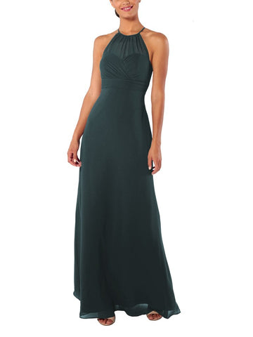 Brideside Blair Bridesmaid Dress in Hunter - Front