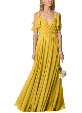 Jenny Yoo Cassie Bridesmaid Dress in Chartreuse- Front