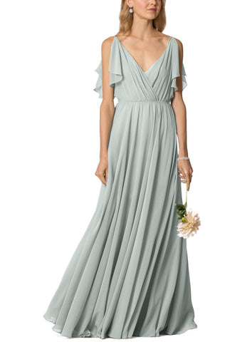 Jenny Yoo Cassie Bridesmaid Dress in Morning-Mist - Front