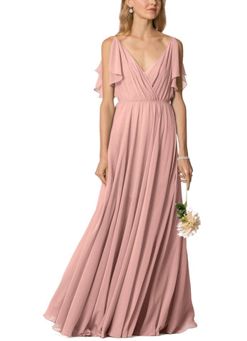 Jenny Yoo Cassie Bridesmaid Dress in Rosewater- Front