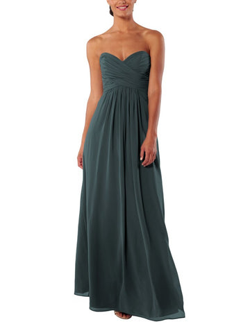 Brideside Charlotte Bridesmaid Dress in Hunter - Front