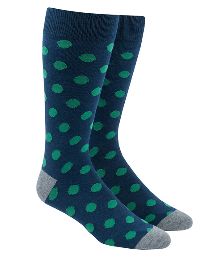 The Tie Bar Common Dots Socks in Navy