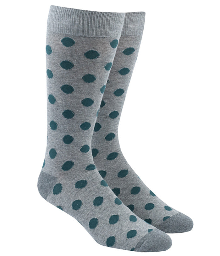 The Tie Bar Common Dots Socks in Gray