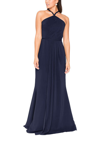 Brideside Danai Bridesmaid Dress in Midnight - Front