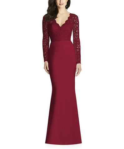 Dessy Collection Style 3014 in Burgundy - Front