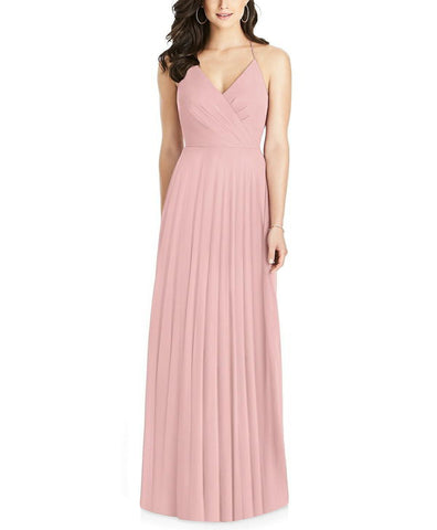 Dessy Collection Style 3021 in Rose Pantone Rose Quartz - Front