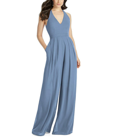 Dessy Bridesmaid Jumpsuit Arielle in Windsor Blue - Front
