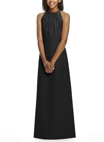 Dessy Junior Bridesmaid Dress Style JR530 in Black - Front