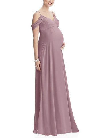 Dessy Maternity Bridesmaid Dress Style M442 in Dusty Rose - Front