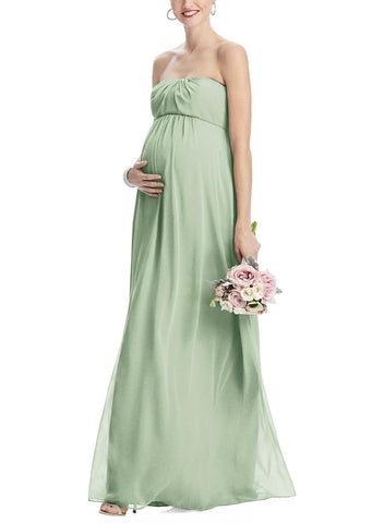 Dessy Maternity Bridesmaid Dress Style M443 in Celadon - Front
