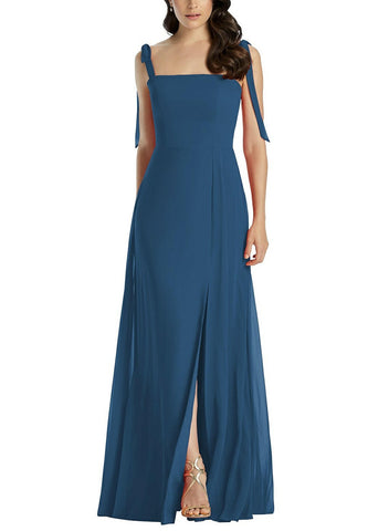 Dessy Collection Style 3042 in Dusk Blue - Front