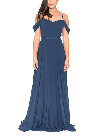 Brideside Drew Bridesmaid Dress in Lagoon - Front