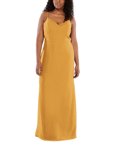 Aura Halley Bridesmaid Dress in Citrine - Front