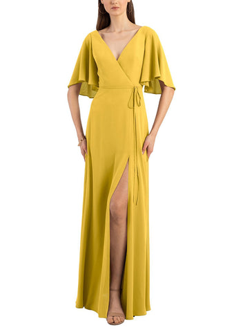 Jenny Yoo Ari Bridesmaid Dress in Chartreuse - Front