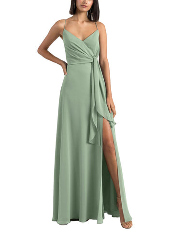 Jenny Yoo Amara Bridesmaid Dress in Sea Glass - Front
