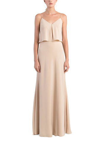 Jenny Yoo Brie Bridesmaid Dress in Chai - Front