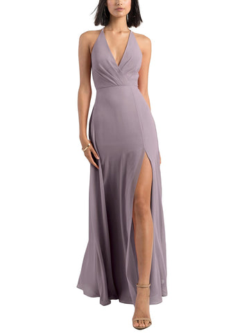 Jenny Yoo Bryce Bridesmaid Dress in Lilac - Front