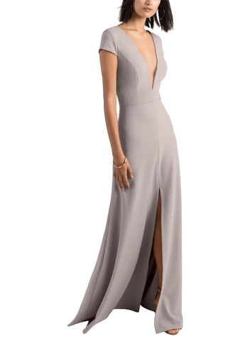 Jenny Yoo Cara Bridesmaid Dress in Quartz - Front