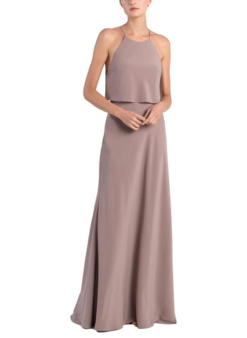 Jenny Yoo Elle Bridesmaid Dress in Fig - Front
