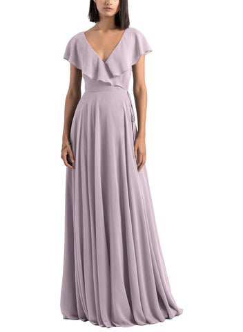 Jenny Yoo Faye Bridesmaid Dress in Sweet Pea - Front