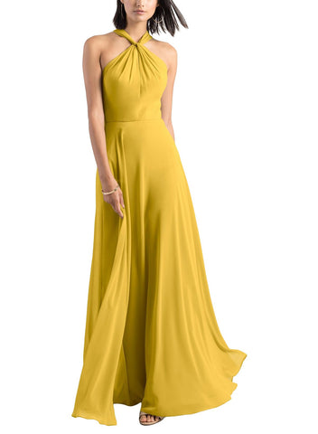 Jenny Yoo Halle Bridesmaid Dress in Chartreuse - Front