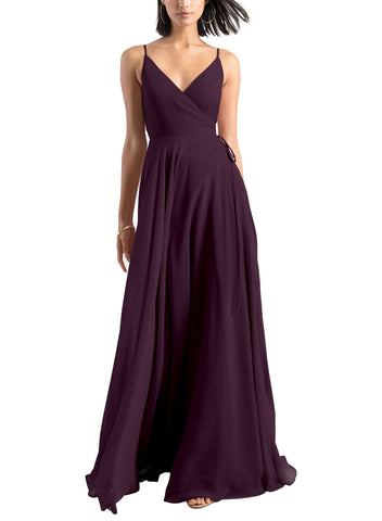 Jenny Yoo James Bridesmaid Dress in Black Current - Front