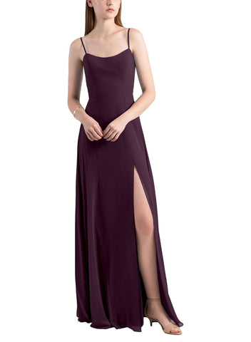Jenny Yoo Kiara Bridesmaid Dress in Black Current - Front