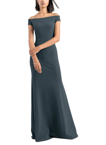 Jenny Yoo Larson Bridesmaid Dress in Storm - Front