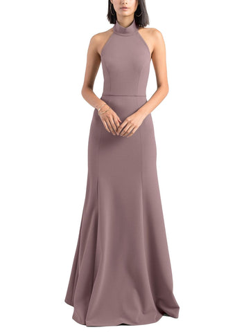Jenny Yoo Petra Bridesmaid Dress in Fig - Front