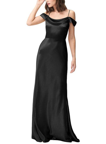 Jenny Yoo Serena Bridesmaid Dress in Black- Front