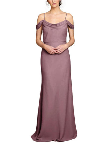 Jenny Yoo Sabine Bridesmaid Dress in Fig- Front