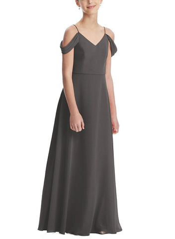 Social Junior Bridesmaid Style JR552 in Caviar - Front