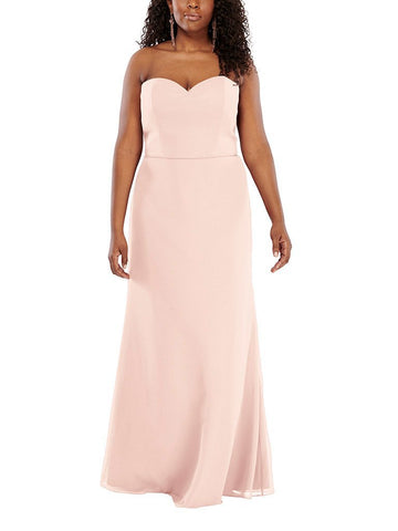 Aura Libra Bridesmaid Dress in Blush - Front