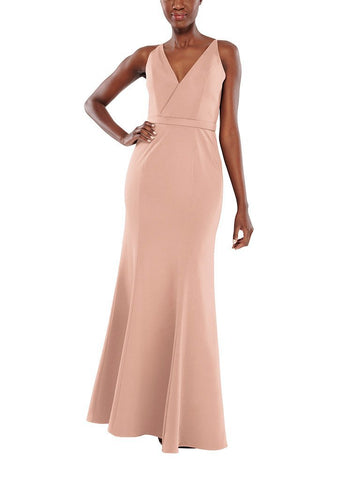Aura Luna Bridesmaid Dress in Quartz - Front