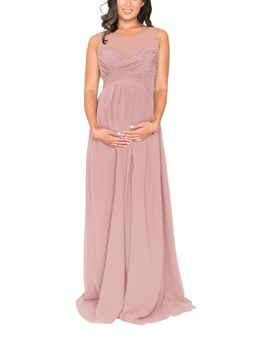 07e730732b805 Brideside Lisa Maternity Bridesmaid Dress in Frose - Front ...