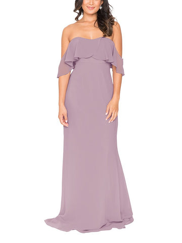 Brideside Lucy Bridesmaid Dress in Macaron - Front