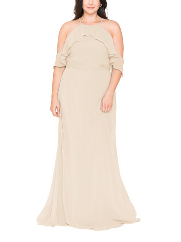 Brideside Lupita Bridesmaid Dress in Champagne - Front