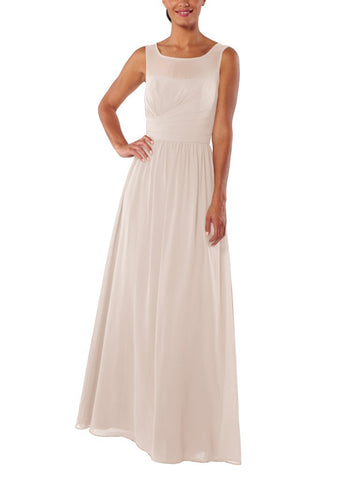 Brideside Miranda Bridesmaid Dress in Sand - Front