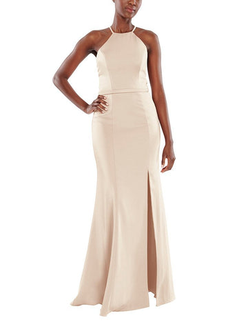 Aura Nova Bridesmaid Dress in Pearl - Front