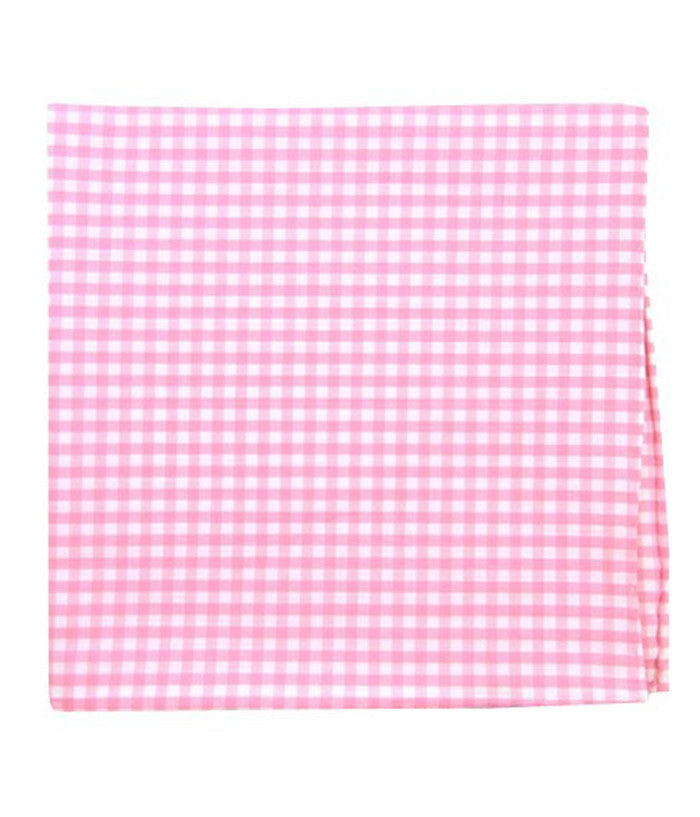 The Tie Bar Pink Novel Gingham Pocket Square