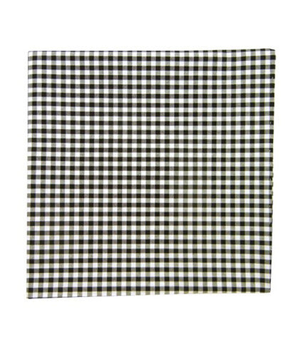 The Tie Bar Black Novel Gingham Pocket Square