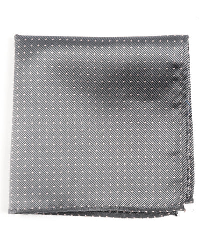 The Tie Bar Gray Mini Dots Pocket Square