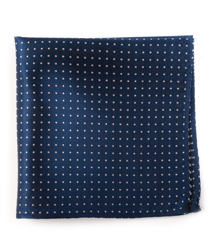 The Tie Bar Classic Navy Mini Dots Pocket Square