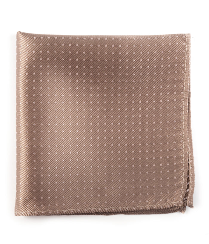 The Tie Bar Champagne Mini Dots Pocket Square